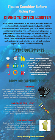 Tips to Consider Before Going for Diving to Catch Lobster