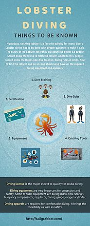 Things to be known about Diving for Lobster Hunting