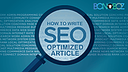 How to Write SEO Optimized Article - Bonoboz.in