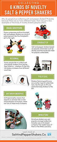 Collecting: 6 Kinds of Novelty Salt & Pepper Shakers (Infographic) | Salt & Pepper Shakers