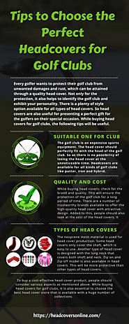 Tips to Choose the Perfect Headcovers for Golf Clubs