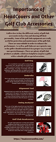 Importance of HeadCovers and Other Golf Club Accessories