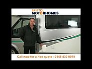 Motorhome hire and campervan rental Bristol - Call 0145 430 0079