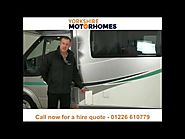 Motorhome hire and campervan rental Yorkshire - Call 01226 610779