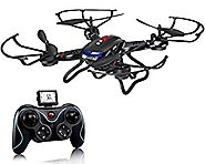 Holy Stone F181 RC Quadcopter Drone with HD Camera RTF 4 Channel 2.4GHz 6-Gyro Headless System Black (Upgraded with A...