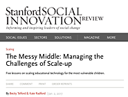 The Messy Middle: Managing the Challenges of Scale-up (SSIR)