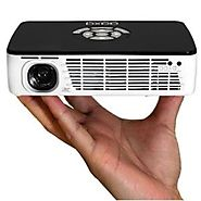 AAXA P300 Pico/Micro LED Projector with 60 Minute Battery Life, WXGA 1280x800 Resolution, 400 Lumens, HDMI, Mini-VGA,...