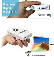 AAXA LED Pico Projector with 80 Minute Battery Life, Pocket Size, mini-HDMI, 15,000 hour LED life, and media player