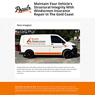 Maintain Vehicle with Windscreen Insurance Repair In The Gold Coast