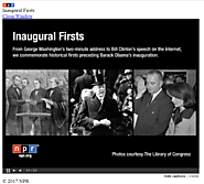 NPR: Inaugural Firsts
