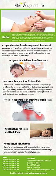 Acupuncture Treatment of Chronic Back Pain