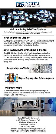 Display Panels & Digital Signage for Estate Agents