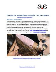 Choosing the Right makeup artists for Your Own Big Day.pdf