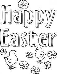 Easter Coloring Pages – Easter Egg, Easter Bunny, Jesus Coloring Pages