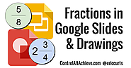 Creating Fractions in Google Slides and Drawings