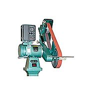 "Burr King 99550 Model 960-272 Two Wheel Belt Grinder, 2 hp, 220V, 1 Phase, 60 Hz, 4400 SFPM, 2"" x 72"" x 8"""