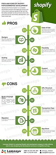 Pros and Cons of Using Shopify for Ecommerce Development | Infographics