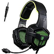 [SADES 2016 Multi-Platform New Xbox one PS4 Gaming Headset ], SA-807 Green Gaming Headsets Headphones For New Xbox on...