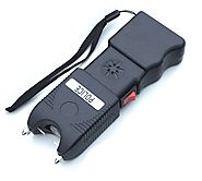Police 230 MV Super Duty Stun Gun Rechargeable With Police Siren Led Flashlight