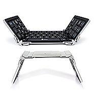 iClever Portable Folding Keyboard, Ultra Slim Wireless Bluetooth Keyboard with Carry Pouch, Pocket Size, Aluminum All...