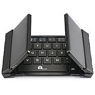 1byone Foldable Bluetooth Keyboard, Portable Bluetooth Keyboard for iOS, Android, Windows, PC, Tablets and Smartphone...