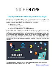 Simple tips for better e mail marketing hire unbounce designer