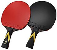 PASOL 6 Star Premium Ping Pong Paddle Professional Table Tennis Racket (Pack of 2 )