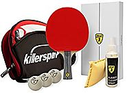 Killerspin Table Tennis All in One Bundle; Ping Pong Paddle, Bag; Balls & Rubber Cleaning Spray