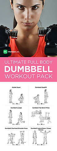 Full Body Dumbbel Workout Pack