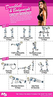 Dumbbell And Bodyweight Circuit workout