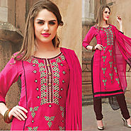 Pink Color Designer Cotton Salwar Kameez