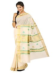 Off White Saree 66055 - 58319-004