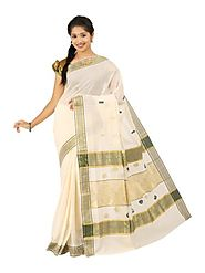 Off White Saree 66055 - 58319-005