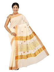 Off White Saree 66055 - 58319-008
