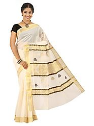 Off White Saree 66055 - 58319-011