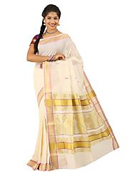 Off White Saree 66525 - 58318-012