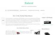 Radared - Authority Site For Radar Detector Enthusiast