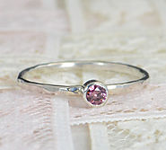 Alexandrite Engagement Ring, Sterling Silver , Alexandrite Wedding Ring Set, Rustic Wedding Ring Set, June Birthstone...