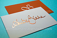 Classy and Cheap Gold Foil Business Cards