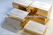 Cheap Gold Foil Business Cards | After Hours Creative
