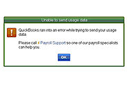 "How to fix QuickBooks Payroll ""Failed to send usage data"""