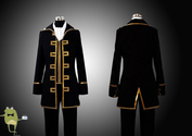 Gintama Cosplay Okita Sougo Costume Shinsengumi Uniform