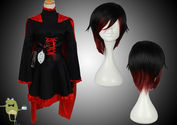 RWBY Ruby Rose Cosplay Costume Outfits + Wig