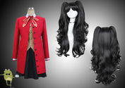 Fate/Stay Night Rin Tohsaka Cosplay Costume + Wig