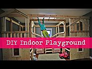 DIY Indoor Playground with Monkey Bars