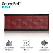 SoundBot SB571 Bluetooth Wireless Speaker for 12 hrs Music Streaming & Hands-Free Calling w/ 6W + 6W 40mm Driver Spea...