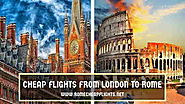 Website at http://www.romecheapflights.net/cheap-flights-london-rome/