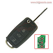 Flip key 3 button 433Mhz NE72 blade for Peugeot Citroen