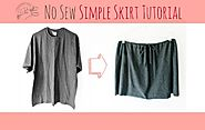 No Sew Simple Skirt Tutorial