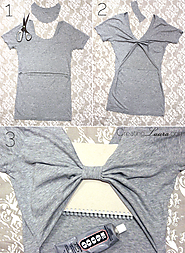 No Sew DIY Bow Back Tank Top